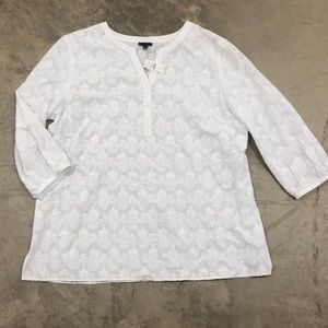 NWT Talbots Embroidered Blouse